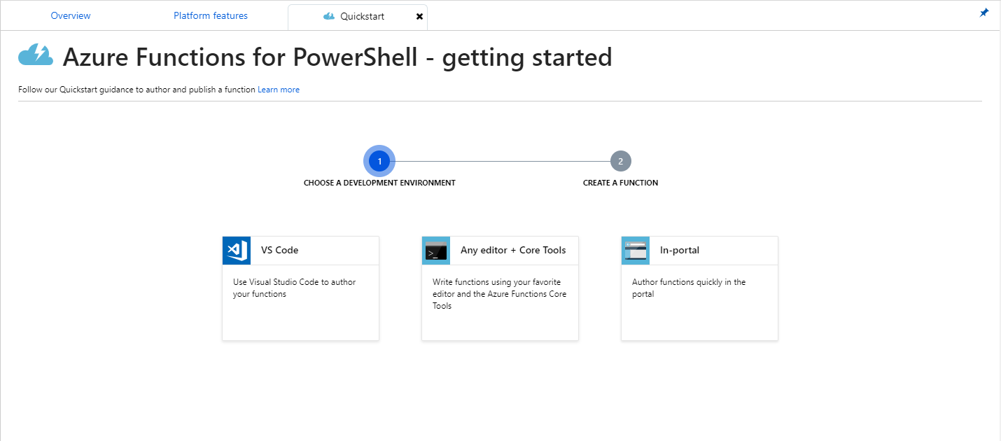 Serverless automation using PowerShell preview in Azure Functions